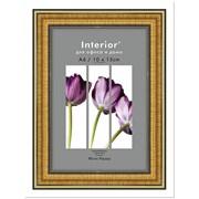 Фоторамка Interior 10*15 пластик 286/296 золото фото