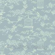 Хлопковая ткань Тильда Birdcage Toile Blue фото
