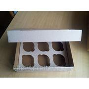Коробка для маффинов 6шт.25х18х8 (код 01735) фото