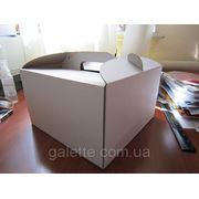 """Коробка самосборная для торта """"низкая""""25*25*15 (код 01787) фотография"""