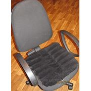 Накладка на сидение,40х40см.,ЛУЗГА ГРЕЧИХИ,накладки на стулья,кресла,сиденье ортопедическое от боли в спине,от простатита,геморроя,исправление осанки фото