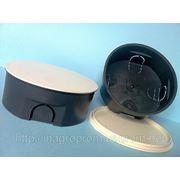 Монтажная коробка в бетон и кирпич распределительная d 120 mm, h45mm, крышка с цельным кольцевым ободком фиксатором: ISO 9001, УКРСЕПРО фото