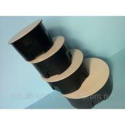 Монтажные коробки в кирпич и бетон распределительная d 70, 80,100 и 120mm, h45mm,крышка с цельным кольцевым ободком фиксатором: ISO 9001, УКРСЕПРО фото