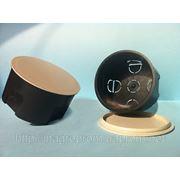 Монтажная коробка в бетон и кирпич распределительная d 80 mm, h45mm, крышка с цельным кольцевым ободком фиксатором: ISO 9001, УКРСЕПРО фото