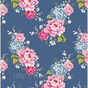 Ткань Tilda Flowerpatch Blue, Gardenparty фото