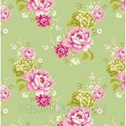 Ткань Тильда Flowerpatch green фото