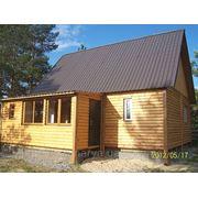 Дом каркасный деревянный (перевозимый) фото