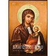 Мастерская копий икон Утоли моя печали Богородица, копия старинной иконы Божьей Матери на иконной доске (ручная работа) Высота иконы 12 см фото