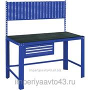 Верстак инструментальный, ящик, задняя панель, синий МАСТАК 541-11515B фото