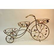 Оригинальная кованная подставка под цветы ( Велосипед)80х53 см фото