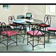 Кованая мебель, кованый стол, кованый стул, мебель из металла фото