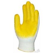 Перчатки хб с одинарным латексным обливом фото