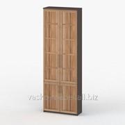 Шкаф книжный, Васко СОЛО 037 Корпус венге, фасад слива/слива фото