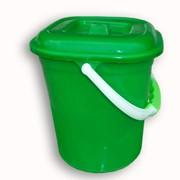Ведро квадратное зеленое с крышкой фото