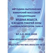 Методика выполнения измерений массовой концентрации вредных веществ фото