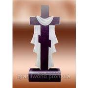 Кресты гранитные от производителя Житомир (Образцы №518) фото