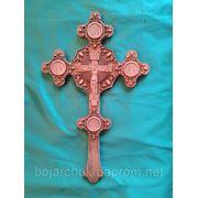 Деревяный напрестольный крест фото