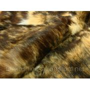 Мех одёжный пластина кролик коричневый под енота