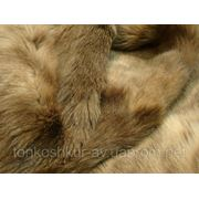 Мех одёжный пластина кролик серо-бежевый фото