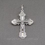 Крест серебряный. арт КР71ч фото