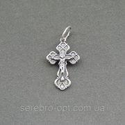 Крест серебряный. арт КР117 фото