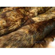 Мех одёжный пластина кролик коричневый под енота фото