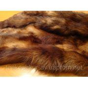 Мех одёжный пластина кролик коричневый под норку фото