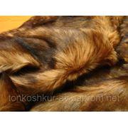 Мех одёжный пластина кролик коричневый под норку