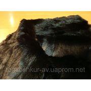 Мех одёжный чёрный кролик фото