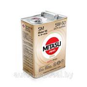 Масло моторное MITASU MOTOR OIL SM 5W-50 100% Synthetic 4л. фото