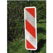 Знаки дорожные и указатели от производителя. Вехи направляющие с световозвращающей пленкой фото