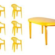 Набор пластиковой мебели Спинт-3 + Пальма-1, 6 шт. фото