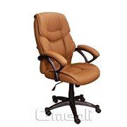 Кресло Фокси HB Кожзам коричневый фото