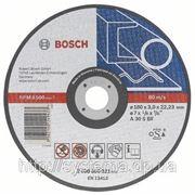 Отрезной (абразивный) круг BOSCH, прямой, по металлу 125х22,23х1,6 мм. СУПЕР ЦЕНА от 25 и 100 шт.!!! фото