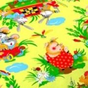 Ткань постельная Бязь 100 гр/м2 150 см Набивная Веселая Лето в деревне желтый 3668-2/S504 TDT фото