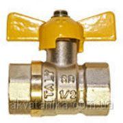 Шаровый кран 3/4 Б ГГ газ* фото