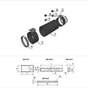 Комплект заделки стыка трубопровода с термоусаживаемой муфтой d=57 мм, Dп=125 мм, L=600 мм фото