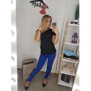 Женские брюки с лампасами и вышивкой, в расцветках фото