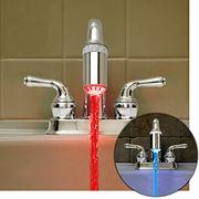 Светодиодная подсветка – насадка на кран Water Glow LED для декоративного освещения ванной комнаты фото