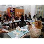 Корпоративный мастер класс по росписи керамики. фото