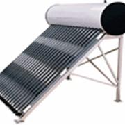 Система с баком совмещенным с солнечным коллектором. фото