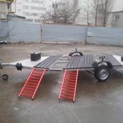 Прицеп для перевозки двух квадроциклов фото