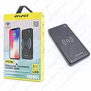 Power Bank Awei P59K Wireless Charger 10000 mAh Black (Черный) фото
