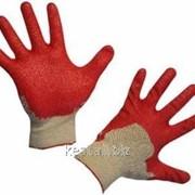 Перчатки Х/Б Латекс, одинарный облив (10/300) фото