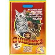 Туалетный древесный наполнитель для кошек. фото