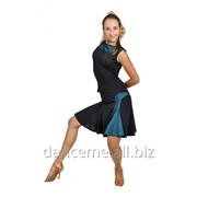 Dance Me Блуза женская БЛ119-2, масло / сетка, голубой фото