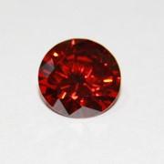 Круг красный полигранат фианит 1,00 фото