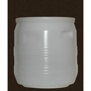 Бочка пластиковая объёмом 35 литров с диаметром горловины 340 мм фото
