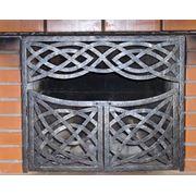 Двери перегородки для камина кованые от производителя. Киев. фото