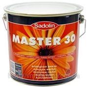 Универсальная полуматовая краска на алкидной основе SADOLIN MASTER 30 белый WO (Швеция) 10л фото